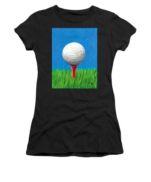Golf Ball And Tee Women's T-Shirt (Athletic Fit)
