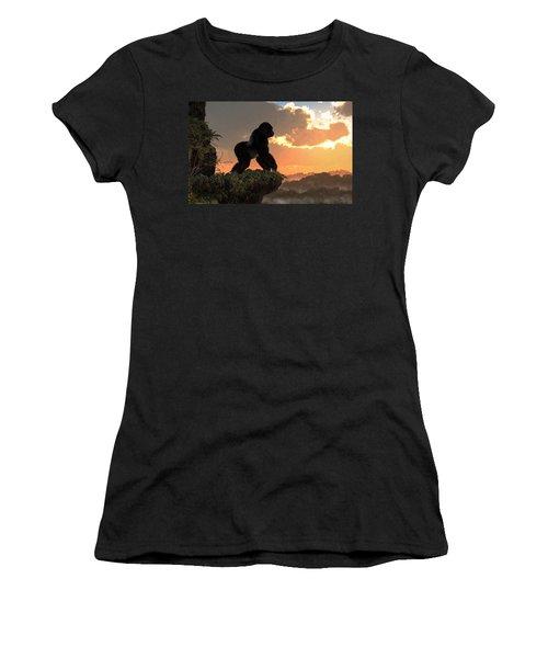 Gorilla Sunset Women's T-Shirt