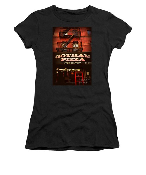 Gotham Pizza Women's T-Shirt (Junior Cut) by Miriam Danar