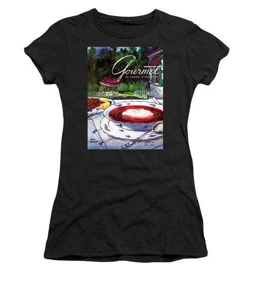Gourmet Cover Featuring A Bowl Of Borsch Women's T-Shirt