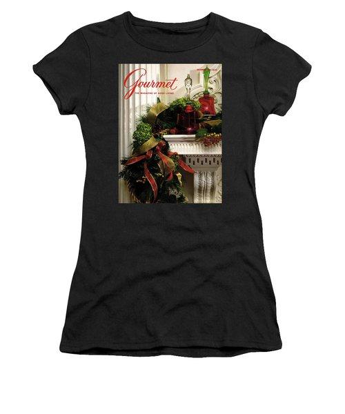 Gourmet Magazine Cover Featuring Christmas Garland Women's T-Shirt
