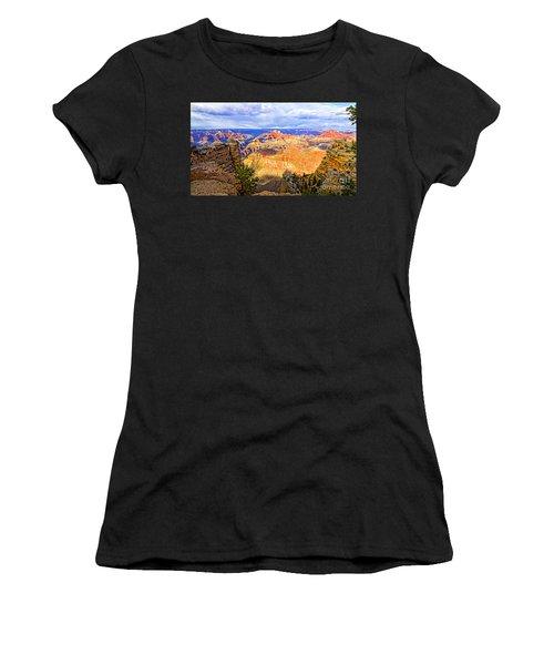 Grand Canyon Women's T-Shirt (Junior Cut) by Jason Abando