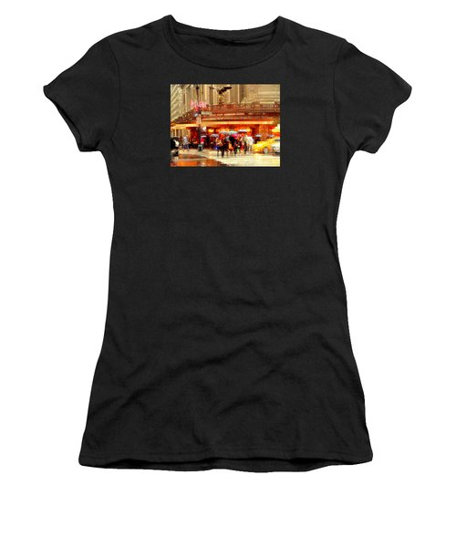 Grand Central Station In The Rain - New York Women's T-Shirt (Athletic Fit)