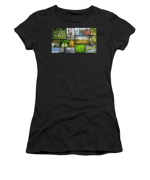 Grass Collage Variety Women's T-Shirt (Athletic Fit)