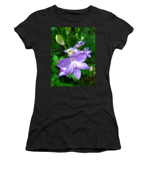 Grass Pink Orchid Women's T-Shirt (Athletic Fit)