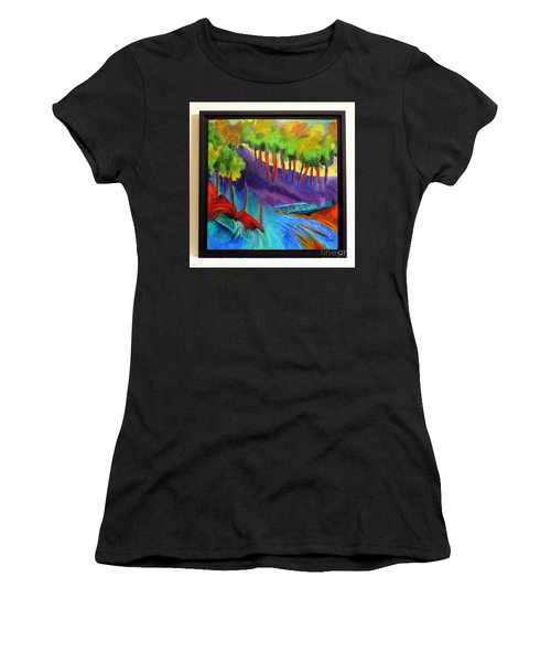 Grate Mountain Women's T-Shirt (Junior Cut) by Elizabeth Fontaine-Barr