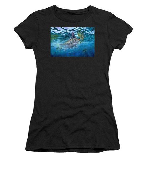 Great Blue And Mahi Mahi Underwater Women's T-Shirt
