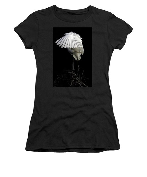 Great Egret Bowing Women's T-Shirt