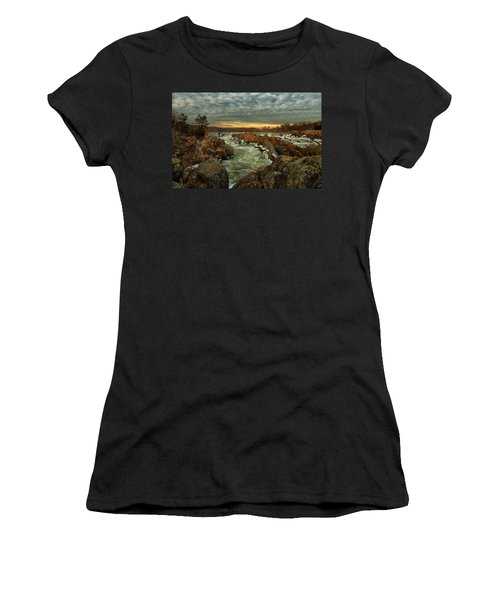 Great Falls Virginia Winter 2014 Women's T-Shirt (Athletic Fit)