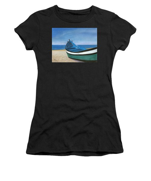 Green Boat Blue Skies Women's T-Shirt (Athletic Fit)