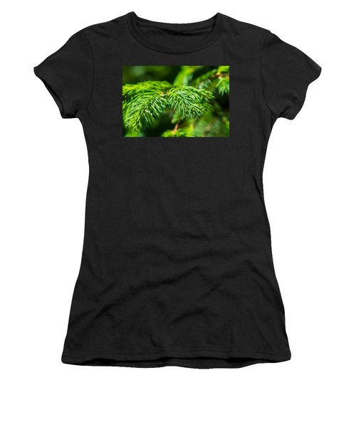 Green Christmas Tree 2 Women's T-Shirt (Junior Cut) by Alexander Senin