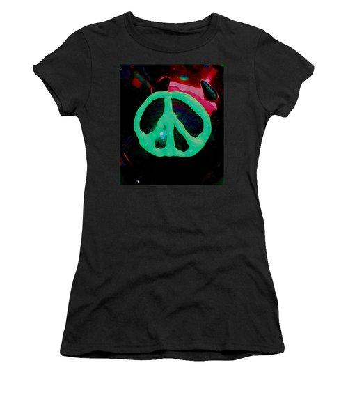 Peace Symbol Women's T-Shirt (Athletic Fit)