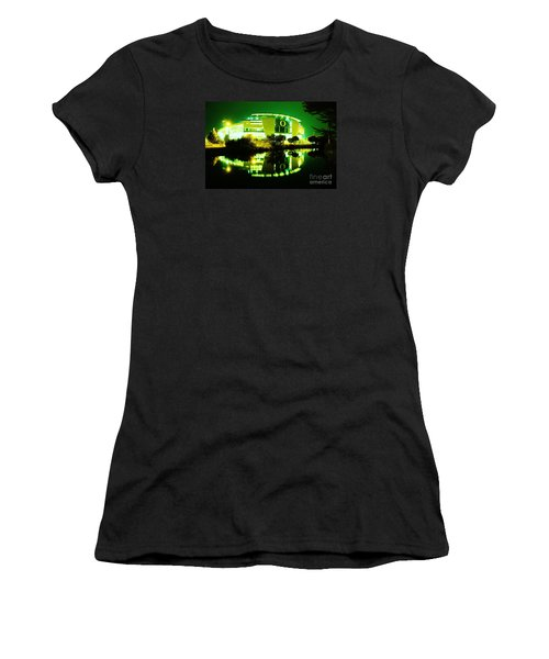 Green Power- Autzen At Night Women's T-Shirt (Athletic Fit)