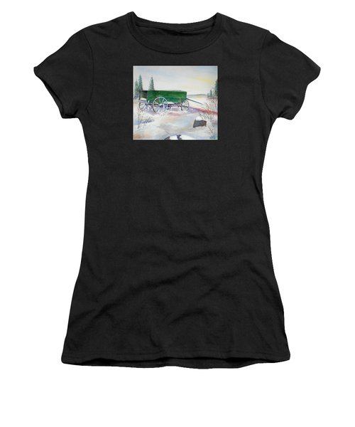 Green Wagon Women's T-Shirt (Athletic Fit)