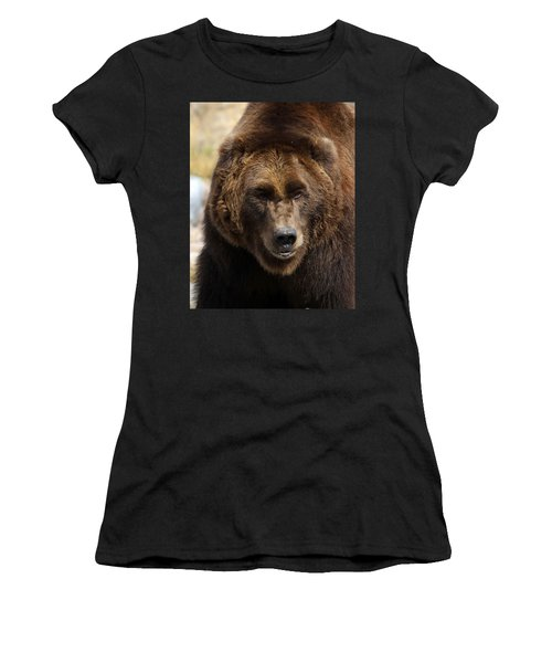Women's T-Shirt (Junior Cut) featuring the photograph Grizzly by Steve McKinzie