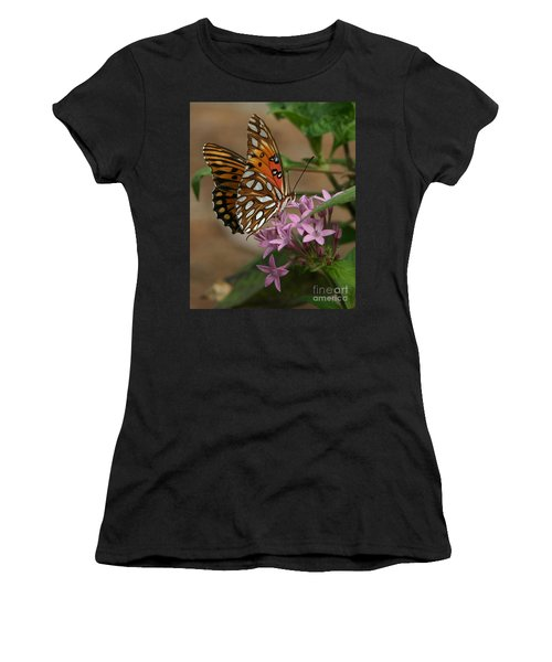 Gulf Fritillary Butterfly Women's T-Shirt (Athletic Fit)