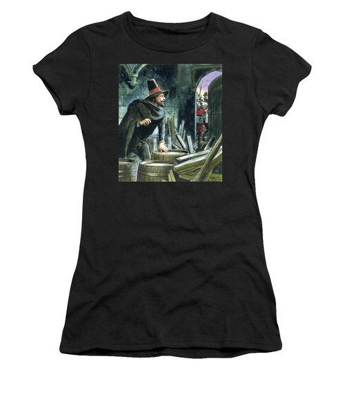 Guy Fawkes, From Peeps Into The Past Women's T-Shirt