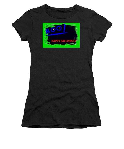Women's T-Shirt (Junior Cut) featuring the digital art Halloween Boo by Christopher Rowlands