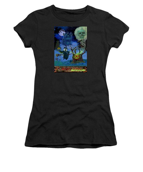 Halloween Witch's Coldron Women's T-Shirt (Junior Cut) by Glenn Holbrook