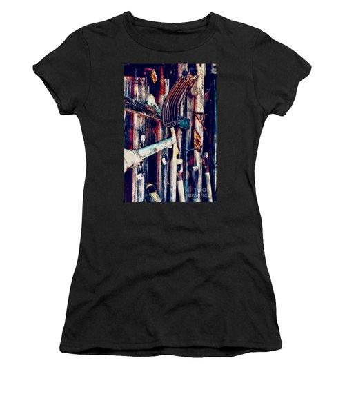 Women's T-Shirt (Junior Cut) featuring the photograph Handles And The Pitchfork by Lesa Fine