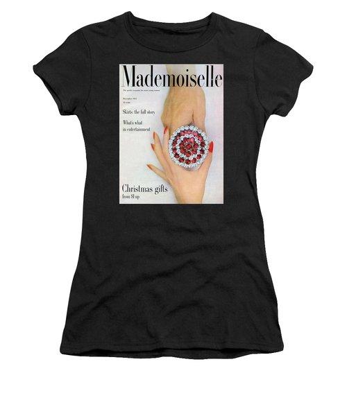 Hands Holding A Coro Rhinestone Pin Women's T-Shirt
