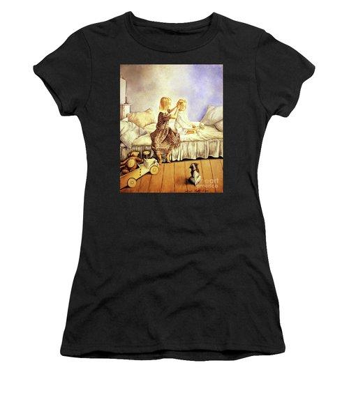 Hands Of Devotion - Childhood Women's T-Shirt (Athletic Fit)