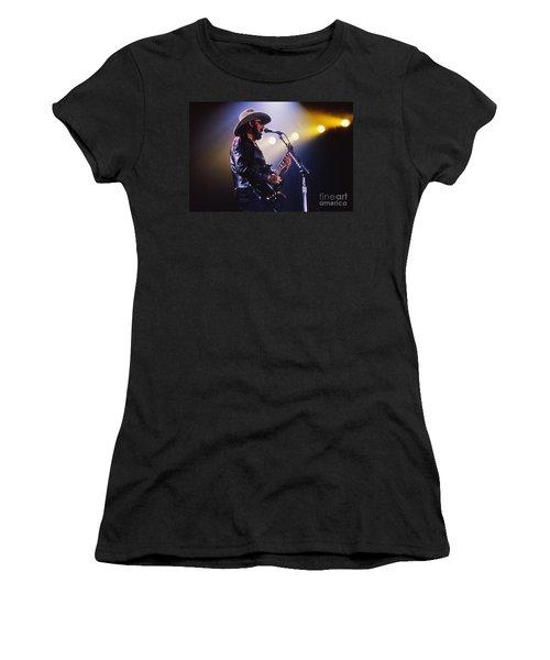 Hank Williams Junior - Fs000246 Women's T-Shirt (Athletic Fit)