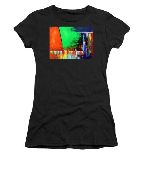Women's T-Shirt (Junior Cut) featuring the painting Happiness by Kume Bryant