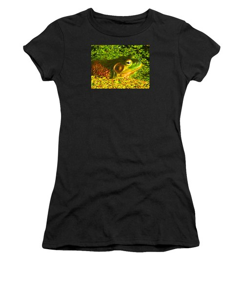 Happy As A Frog In A Pond Women's T-Shirt (Athletic Fit)