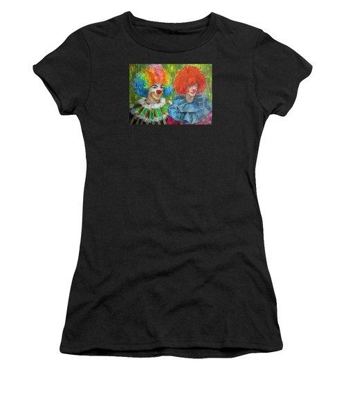 Gemini Clowns Women's T-Shirt (Athletic Fit)