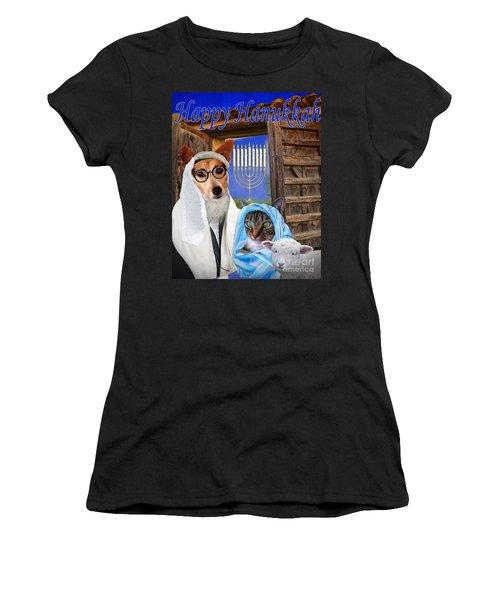 Happy Hanukkah -1 Women's T-Shirt (Athletic Fit)