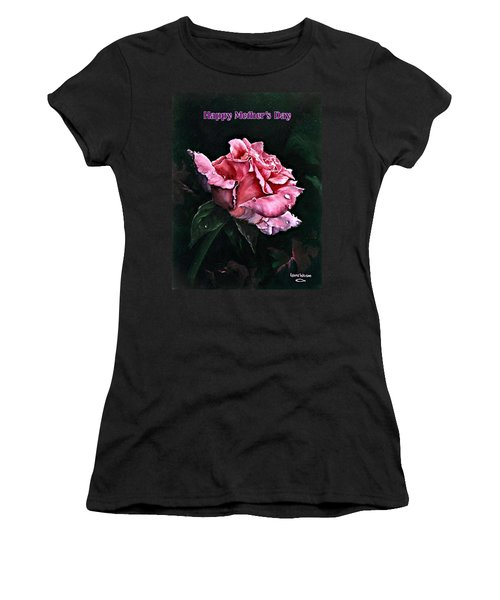 Women's T-Shirt (Junior Cut) featuring the painting Happy Mother's Day by Lynne Wright