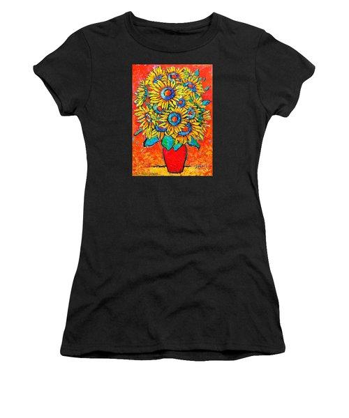 Happy Sunflowers Women's T-Shirt
