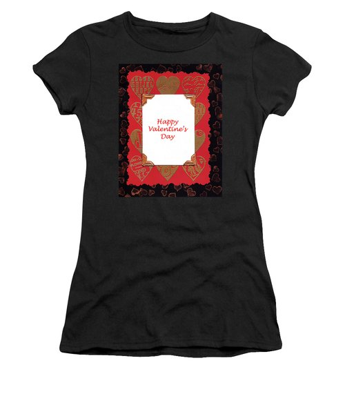Women's T-Shirt (Junior Cut) featuring the photograph Happy Valentines Day Card by Vizual Studio