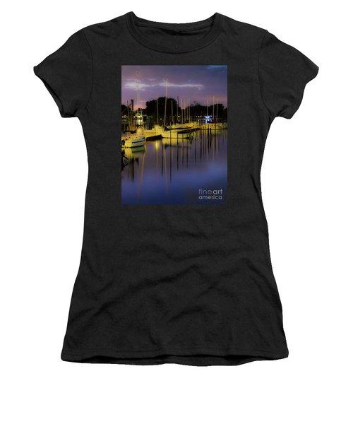 Harbor At Night Women's T-Shirt