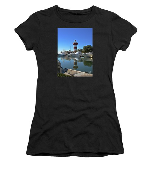 Harbor Town Lighthouse Women's T-Shirt (Athletic Fit)