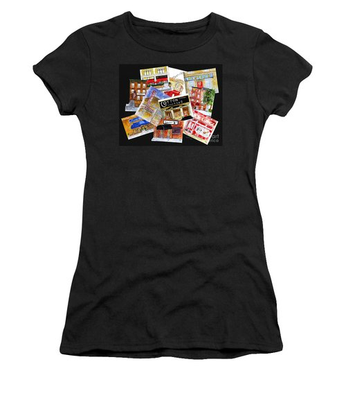 Harlem Jazz Clubs Women's T-Shirt (Athletic Fit)