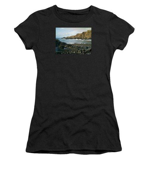 North Devon - Hartland Quay Women's T-Shirt (Junior Cut) by Richard Brookes