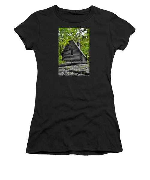 Hartwick Pines Chapel Bwg Women's T-Shirt (Athletic Fit)