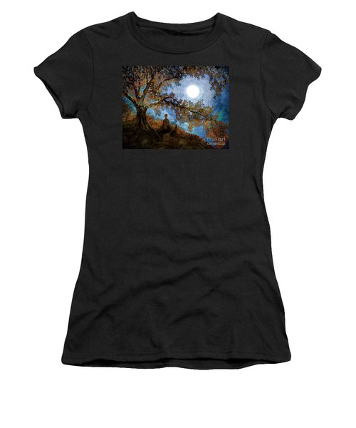 Harvest Moon Meditation Women's T-Shirt (Athletic Fit)