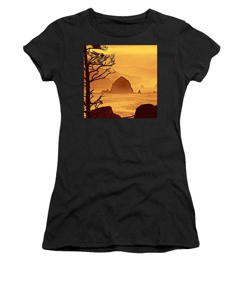Haystack Burnt Sienna Women's T-Shirt (Junior Cut) by Wendy McKennon