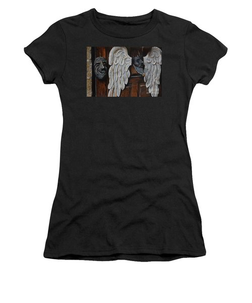 Women's T-Shirt (Junior Cut) featuring the mixed media He Gets Like That by Brian Boyle