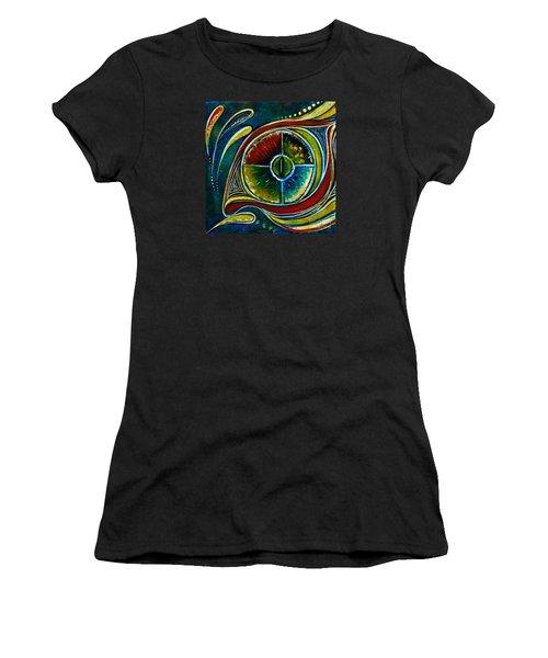 Women's T-Shirt (Junior Cut) featuring the painting Healer Spirit Eye by Deborha Kerr