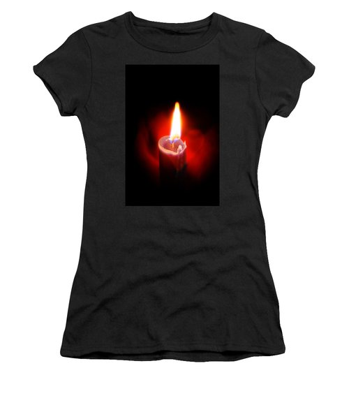 Heart Aflame Women's T-Shirt (Junior Cut) by Sennie Pierson
