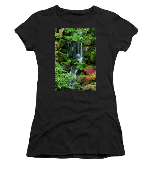 Heavenly Falls Serenity Women's T-Shirt (Junior Cut) by Don Schwartz