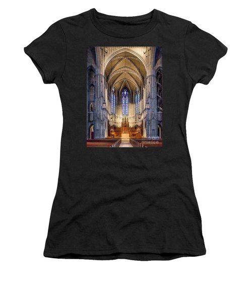 Heinz Chapel - Pittsburgh Pennsylvania Women's T-Shirt (Athletic Fit)