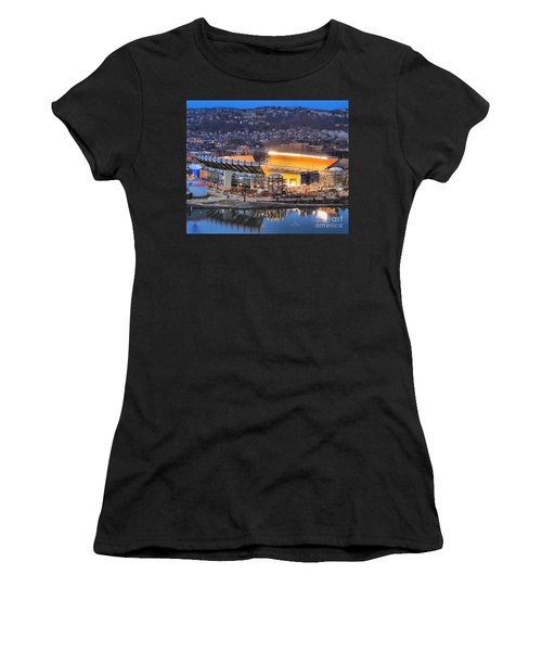 Heinz Field At Night Women's T-Shirt (Athletic Fit)