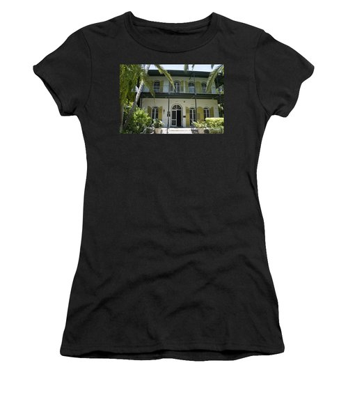 Hemingway's Hideaway Women's T-Shirt (Junior Cut) by Laurie Perry