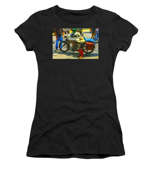 Henderson At Cannonball Motorcycle Women's T-Shirt