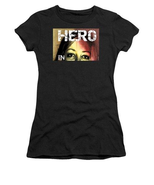 Women's T-Shirt (Junior Cut) featuring the photograph Hero In Part Two by Sir Josef - Social Critic - ART